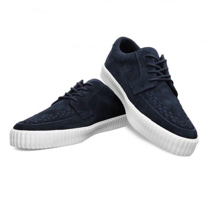 T.U.K. A9256 New Rare Men Shoes Blue Suede Gum Sole Creeper Sneaker Skater