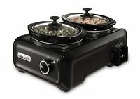 Crock-pot Sccpmd1-ch Hook Up Connectable Entertaining System, Double Oval 1-quar on sale