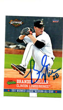 Brandon Miller 2017 Midwest League All Star auto signed card Clinton Lumberkings