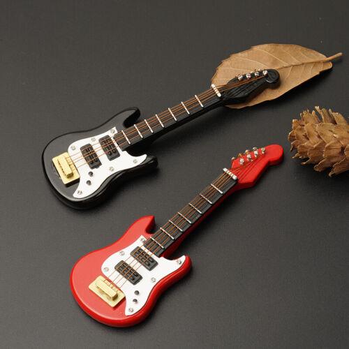 1//12 Dollhouse Mini Electric Guitar For Doll House Toy Red O1J6 R8H9 De DIY Fine