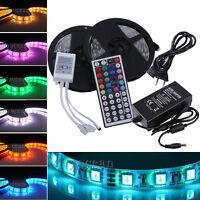 10M SMD 5050 RGB LED Stripe Streifen Licht Band LEISTE+44Keys IR+5A Netzteil