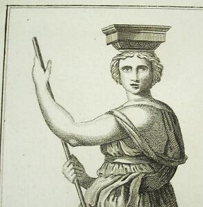 Allegorie-der-Marine-Gravur-Orig-c1800-Architektur-Karyatide-nach-Raffael