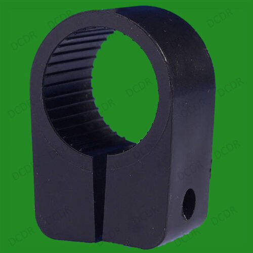 5 7 or 9 Size No Black Heavy Duty Cable Cleats Clips 3 Pack Sizes 5-50