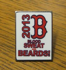 The Boston Red Sox Baseball Pin BLOOD SWEAT AND BEARDS! 2013 World Series W.S.