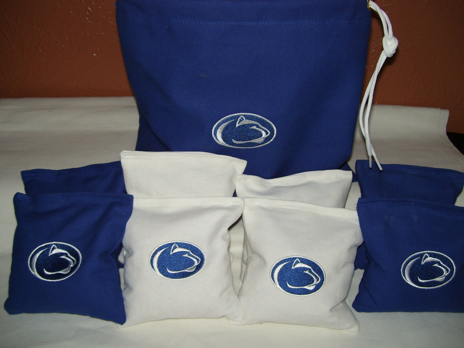 Penn State Embroidered Cornhole Corn Hole Bags With Storage Bag
