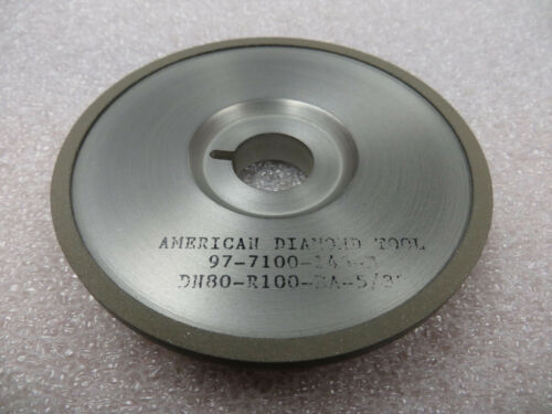 """100 mm x 9//16/"""" x 20 mmkw Arb 15A9 Saucer 80 Grit 100 Con Diamond Grinding Wheel"""