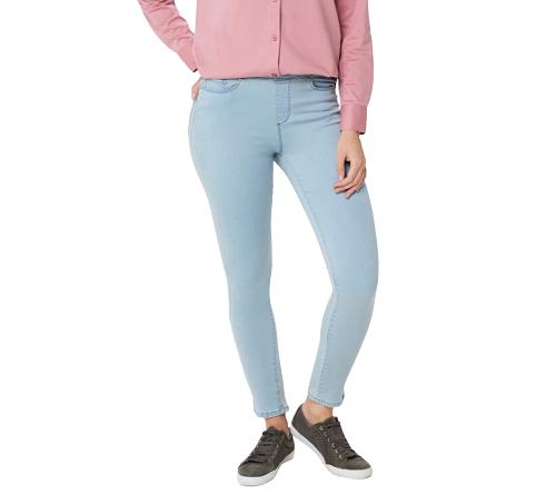 Martha Stewart Petite Knit Denim Ankle Jeans White 10P NEW A351437