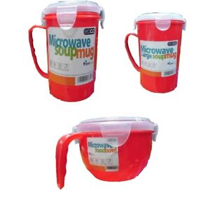 Microwave Soup Food Mug Bowl Lunch Box Container Clip Lock