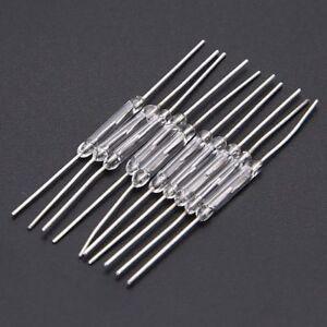 10-Stueck-Mini-Reedkontakt-14mm-x-2mm-Miniatur-Reed-Kontakt-Reedschalter-44mm