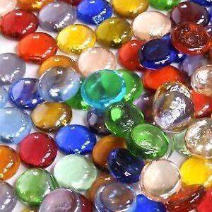 Stones **Choice of Colours /& Quantities** Decorative Round Glass Pebbles