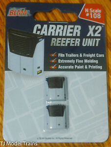BLMA-Models-N-108-Carrier-Reefer-Unit-2-in-pkg-Painted-Detailed