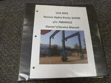 Renner Rhp80 Hydro Porter Gantry Crane Owner Operator Amp Service Repair Manual