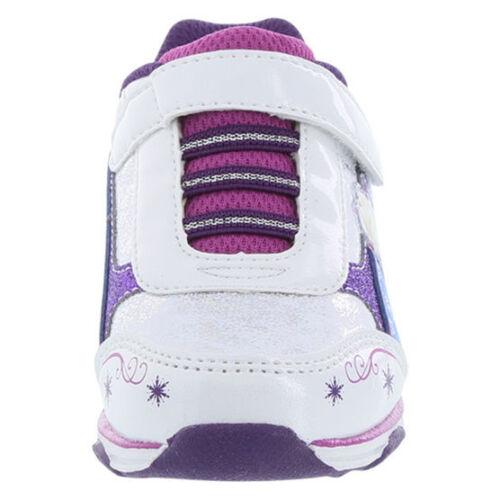 Disney FROZEN RUNNER White//Blue Light-Up Sneaker Girls Sz 10-13 Toddler 1-2 Y