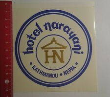 Aufkleber/Sticker: Hotel narayani Kathmandu Nepal (191116167)