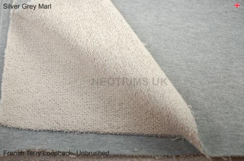 Sweatshirt Loop Back,Heavy 100/% Cotton Bullet French Terry Fabric /& Matching Rib