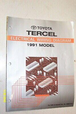 1991 Toyota Tercel Electrical Wiring Diagram Manual Ebay