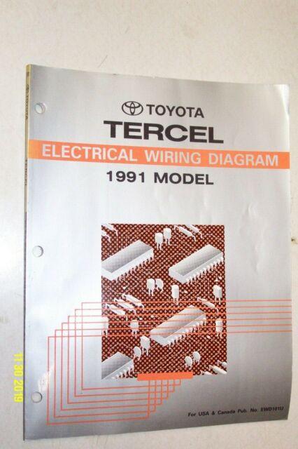 1991 Toyota Tercel Electrical Wiring Diagram Manual