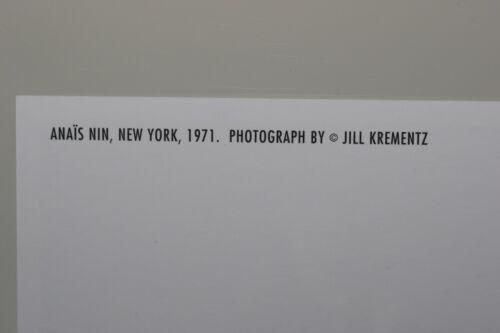 Postkarte Kunst ANAIS NIN,1971 by JILL KREMENTZ