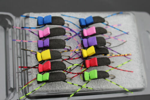 12 pcs//lot Dry fly Terrestrial Insect Beetle Foam Fly Fishing Flies Lures Size 4