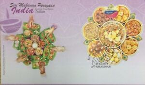 Malaysia FDC with Miniature Sheet (17.10.2017) - Festival Food Series Indian