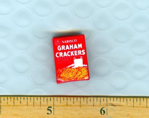 DOLLHOUSE miniature Vintage Graham Crackers  BOX Red