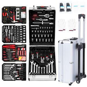 Werkzeugkoffer Werkzeugkasten Werkzeugkiste Werkzeug Trolley Werkzeugset 629tlg