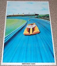 MATCHBOX CAR RACE 1976 Lesney Diecast Racing Poster Dargis Superfast Datsun 126X