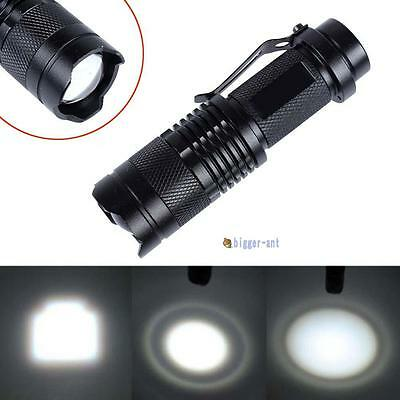 CREE T6 LED Mini Flashlight Focus 14500 AA Torch 2000LM Zoomable Lamp Light BA
