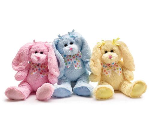"""New Burton /& Burton 14/"""" Plush Bunny Pink//Yellow//Blue"""