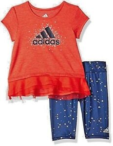 New-Adidas-Girls-039-2-Piece-Energy-Capri-Set