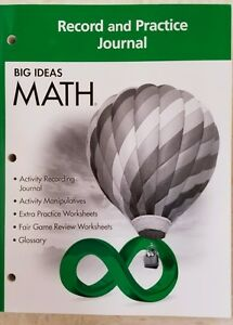 Details about Big Ideas Math Green Record and Practice Journal Green Grade 6