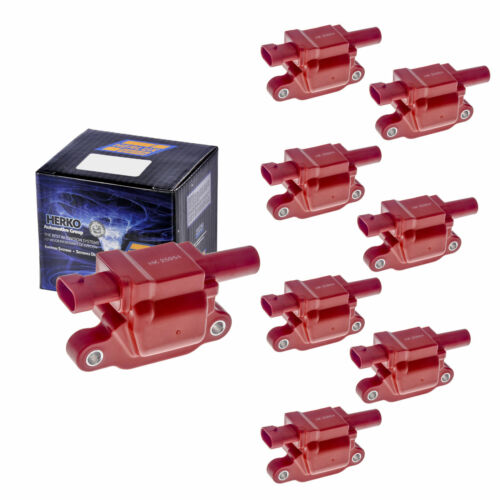 Set of 8 Herko B058He Ignition Coils For Chevy GMC Hummer Pontiac 2005-2009