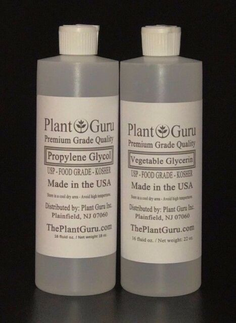Vegetable Glycerin Propylene Glycol Food Grade USP Non-gmo PG VG Oil 16 Oz  Each