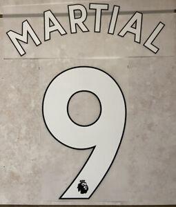 Flocage Nameset Martial #9 Manchester United 2019-2021 Home Domicile. PL