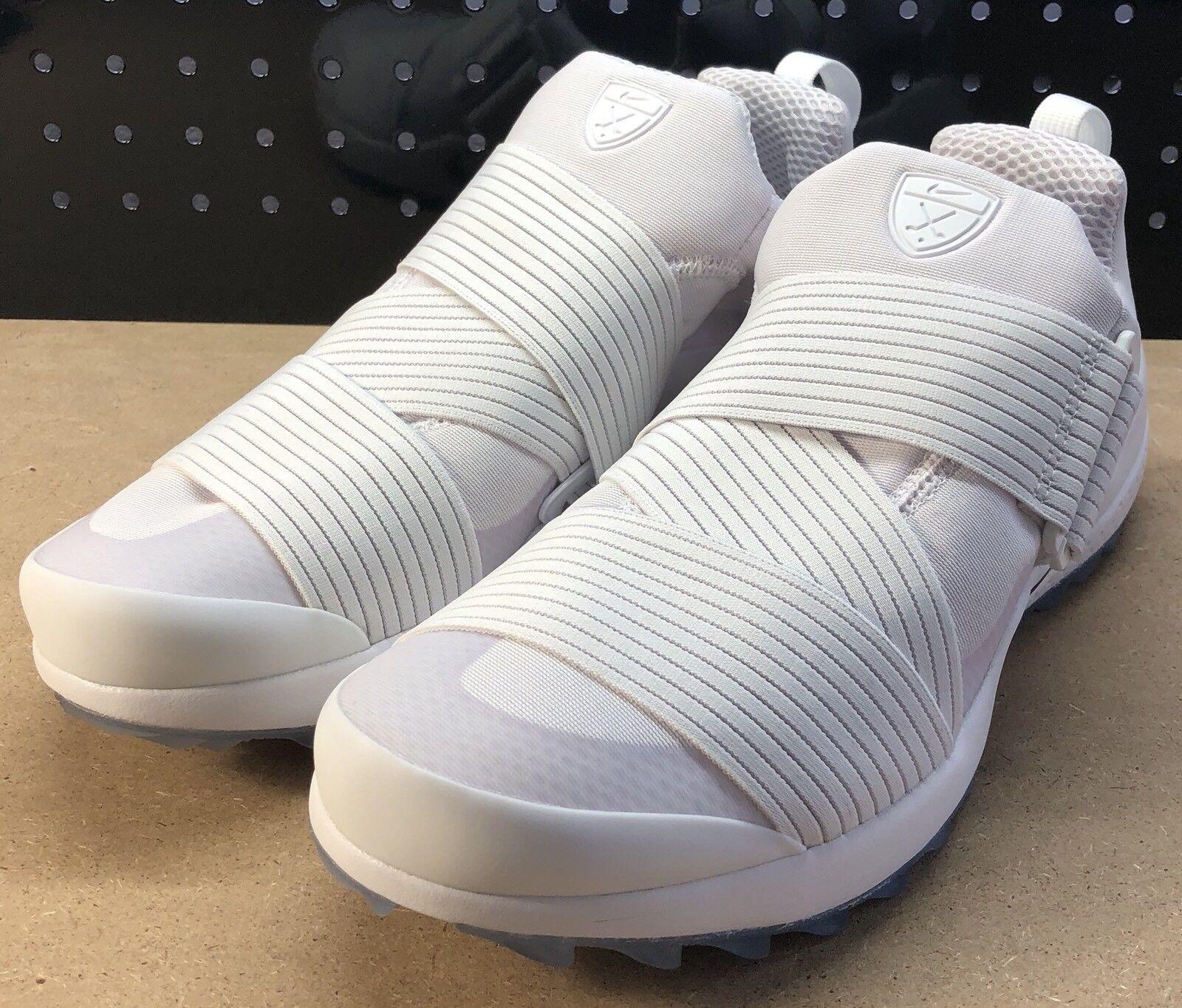 Nike air zoom - senza tacchetti bianco nero taglia 849955-100 scarpe da golf
