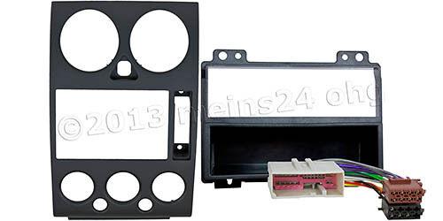 Radio Blende Set für FORD Fusion ab 2002 - 2012 Rahmen Einbau Adapter ISO Kabel