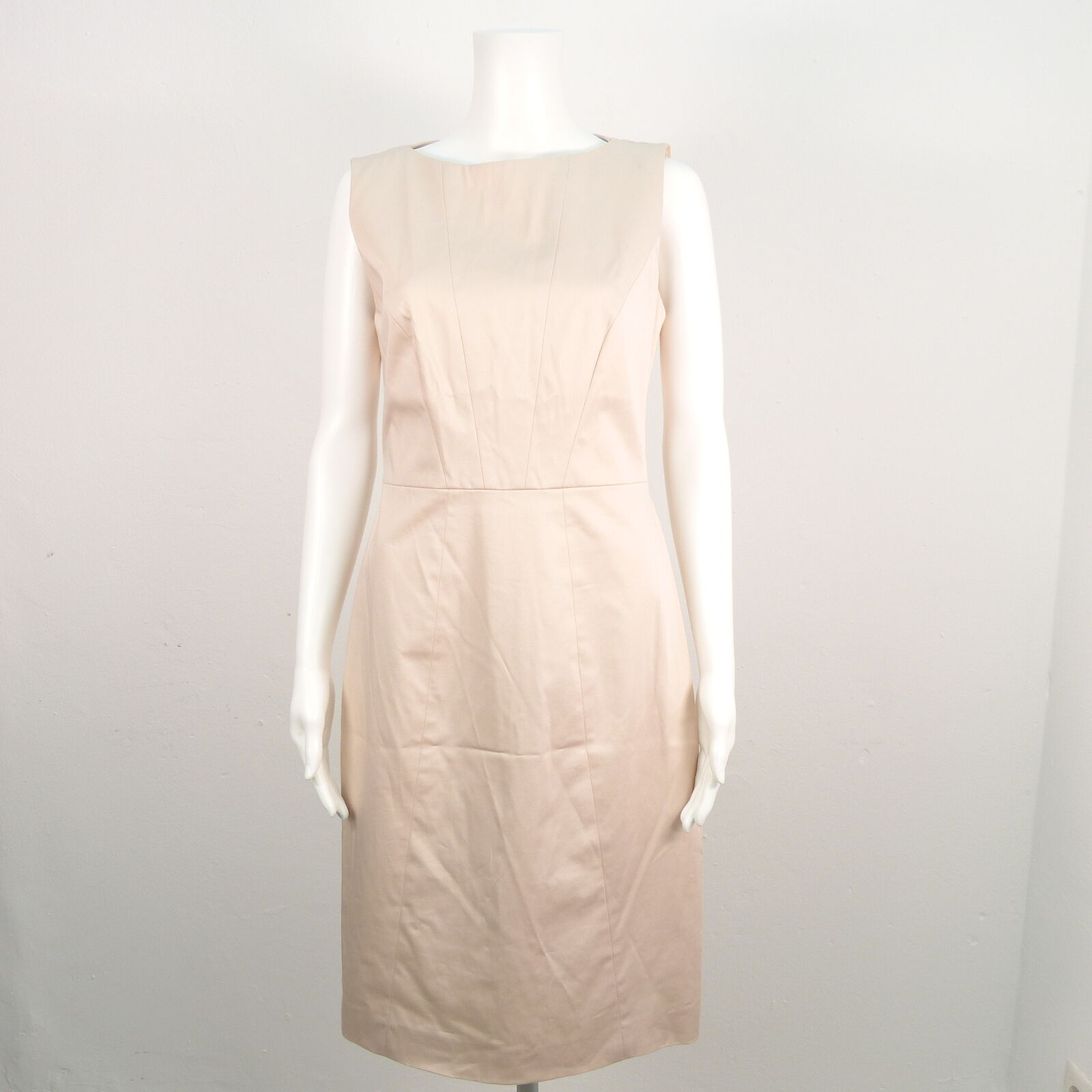 Hugo BOSS ABITO DONNA TG 38 Beige dress robe cotone cotone cotone e59950