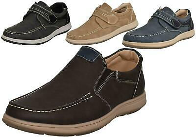 MENS BLACK SYNTHETIC NUBUCK CASUAL LACE UP SUMMER COMFORT SHOES UK SIZE 7.