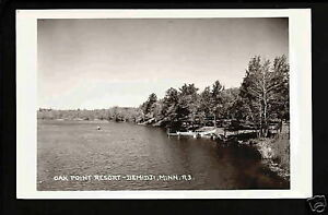 Bemidji-Minnesota-40s-RPPC-Oak-Point-Resort-Lakeside-MN