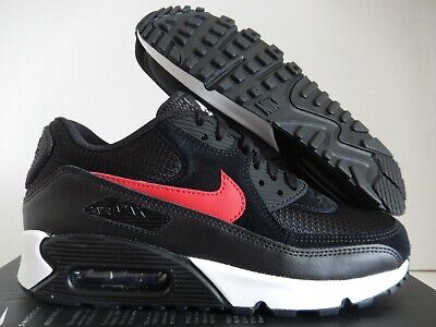 MENS NIKE AIR MAX 90 ID BLACK RED WHITE MESH TOE SZ 7 [BQ8747 991] | eBay