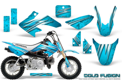 HONDA CRF 50 GRAPHICS KIT CREATORX DECALS STICKERS COLD FUSION BLUE ICE