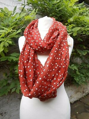 BNWT FAT FACE LADIES SPOTS PRINTS SCARF SNOOD RRP £22