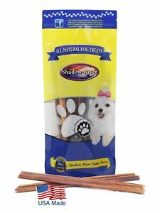 Shadow River 12 Inch THIN Premium USA Beef Bully Sticks Dog Chews - Pack of 10