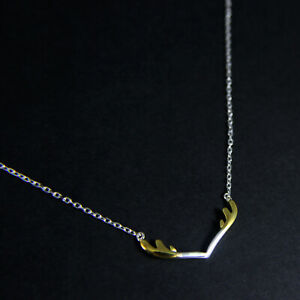 GENUINE-925-Sterling-Silver-Horn-Delicate-Fine-Necklace-UK-New