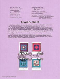 0137-34c-Amish-Quilts-Stamps-3524-3527-Souvenir-Page