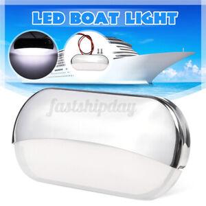 DC12V-Stainless-Steel-Marine-Boat-Yacht-Navigation-Bow-LED-Light-White-IP67-F