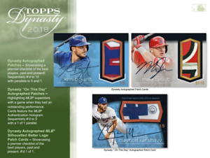 Details About 2018 Topps Dynasty Baseball Live Pick Your Player Pyp 1 Box Break 3