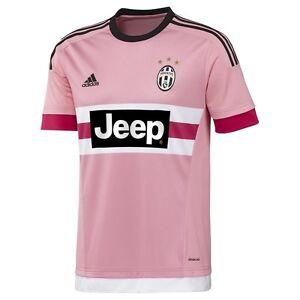 New Mens Adidas Juventus Pink Away Football Soccer Shirt Jersey ...