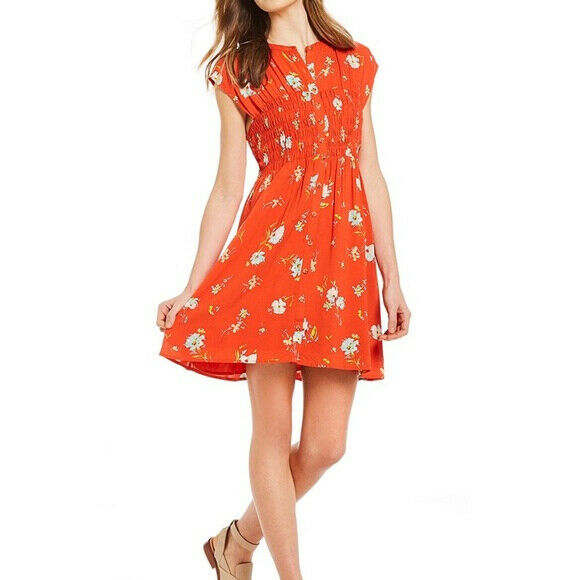 Free People damen Greatest Day OB778536 Dress Relaxed Lava Combo rot Größe XS