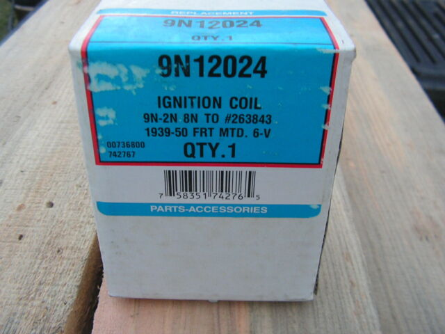 9N12024 NEW 6-Volt Coil for FORD 8N, 9N, 2N